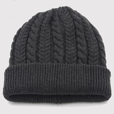 秋冬季帽子男冬天保暖包头帽韩版潮毛线帽套头帽男士双层加厚 双层加厚  弹性好 不限年龄