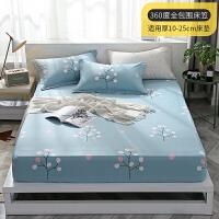 防灰尘床罩ins网红全棉床笠单件席梦思床垫保护套1.5米1.8m纯棉防尘薄款床罩