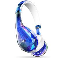 MONSTER/魔声 钻石之泪DiamondZ头戴式魔声耳机魔音耳机带麦 - 蓝色