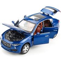 新款玛莎拉蒂莱万特汽车模型仿真合金越野车模型玩具车回力