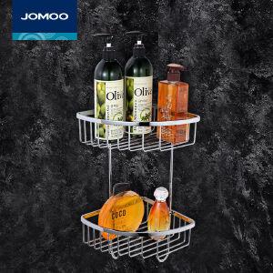 【每满100减50元】九牧(JOMOO)浴室挂件不锈钢三角篮置物架卫浴挂件937019