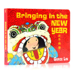 英文原版 新年快乐 Grace Lin 凯迪克奖得主 纸板书 Bringing in the New Year