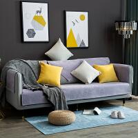 北欧沙发垫四季通用防滑简约现代纯色雪尼尔布艺皮坐垫沙发套罩巾