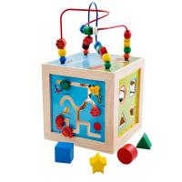 正品大号绕珠架 五合一绕珠开发婴幼儿童智力绕珠宝宝玩具