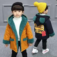儿童中长款男童冬装外套棉袄潮