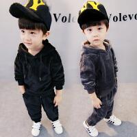 男孩童装连帽卫衣宝宝秋冬季两件套