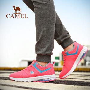 camel骆驼运动跑鞋 女款透气轻便减震时尚舒适低帮跑步鞋