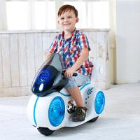儿童电动摩托车宝宝可坐三轮童车带灯光音乐小孩充电瓶车玩具