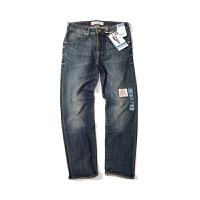 Lee李 牛仔裤 男士经典修身牛仔裤青年磨白水洗直筒牛仔裤潮流百搭