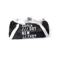 Superdry 极度干燥 Luxe Barrel Bag 黑白色手提包【美国直邮】
