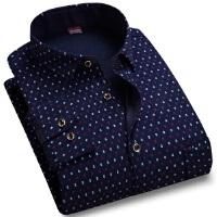 新款秋保暖加绒加厚长袖衬衫男士花色格子商务休闲长袖衬衫大码休闲衬衫