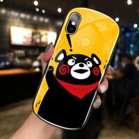 苹果X手机壳iPhone XR椭圆XSMAX可爱卡通熊8plus网红女款7plus个性创意XS弧形同