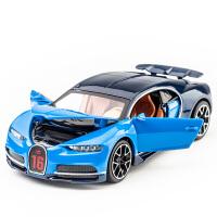 布加迪威龙合金车模跑车赛车金属儿童回力玩具车仿真合金汽车模型