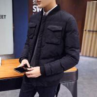男士2017新款冬季短款韩版个性潮流帅气衣服棉衣外套冬装棉袄