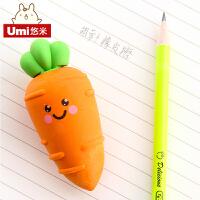 韩国创意文具卡通胡萝卜香蕉橡皮擦 可拆卸儿童学生奖品学习用品