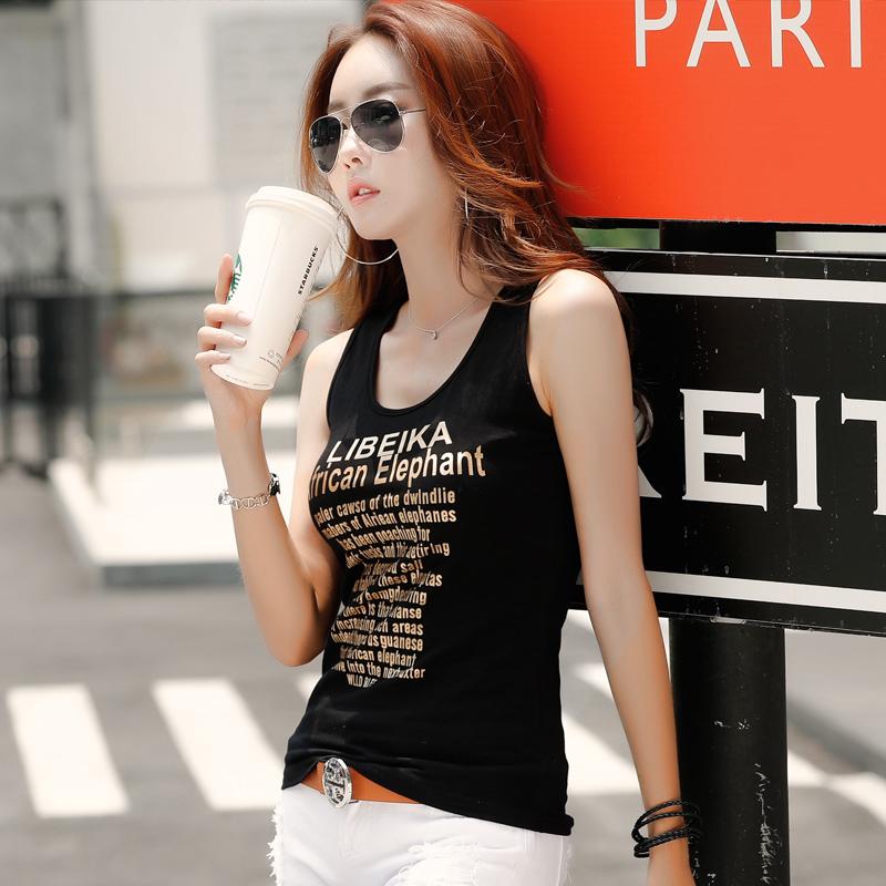 吊带小背心女短款打底外穿韩版棉质无袖夏季字母内搭修身小衫