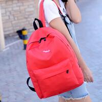 日韩版双肩包男女四季休闲中学生书包帆布潮男学院风旅行电脑背包