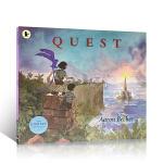 英文原版绘本 不可思议的旅程系列 Quest 三部曲之二彩虹国度 凯迪克银奖 平装 心灵历程探索冒险无文字图画故事书