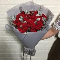 七夕节鲜花七夕情人节上海粉香槟红玫瑰速递礼盒花束生日北京成都同城