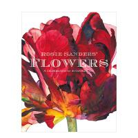 【预订】罗西・桑德斯的花卉 Rosie Sanders'Flowers 植物学艺术插画画册水彩花卉图案集美术生临摹英文原