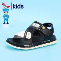 【1件2折后:59元】红蜻蜓夏季新款露趾凉鞋软底中大童防滑男童沙滩鞋帅气儿童凉鞋