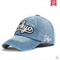 刺绣鸭舌帽子女韩版潮遮阳帽子女夏天 棒球帽牛仔帽户外纯色运动