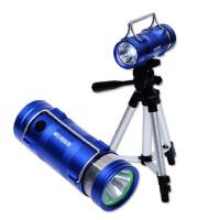 夜钓灯钓鱼灯5W蓝光白光双光源变光充电垂钓灯夜钓鱼灯