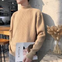 半高领毛衣男2018新款秋冬季韩版潮针织衫简约纯色套头外套打底衫
