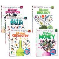 【全店300减100】英文原版儿童启蒙DK小百科系列5册 All About Biology/Physics/Your
