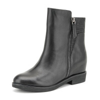 Fondberyl/菲伯丽尔冬新款牛皮圆头内 短靴女鞋FB54112657