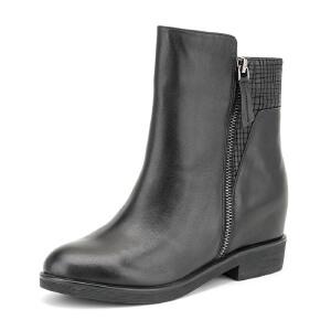 【3折到手价149.7元】Fondberyl/菲伯丽尔冬新款牛皮圆头内 短靴女鞋FB54112657