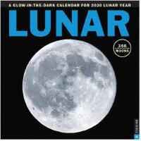 英文原版 月球摄影 2020年挂历 夜光月相日历 Lunar 2020 Square Wall Calendar