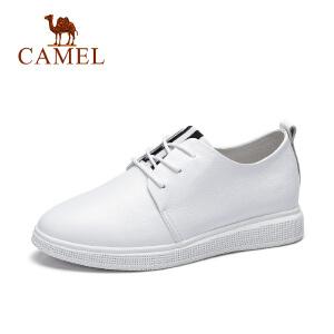 Camel/骆驼女鞋 春季新款 时尚舒适单鞋平底百搭小白鞋