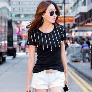 2017夏季新款女装上衣t恤韩版修身打底衫纯棉短袖t恤女小衫ZY3833