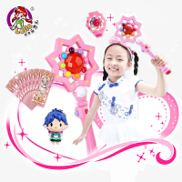 乐吉儿小花仙夏安安变身魔法棒套装发光音乐儿童玩具女孩生日礼物