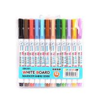 得力8色彩色白板笔儿童绘画画板彩笔12色可擦易擦水性白板笔