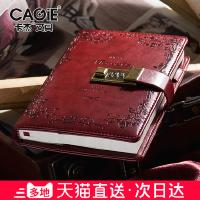 复古密码本文具笔记本子加厚手帐本带锁日记本创意手账学生记事本