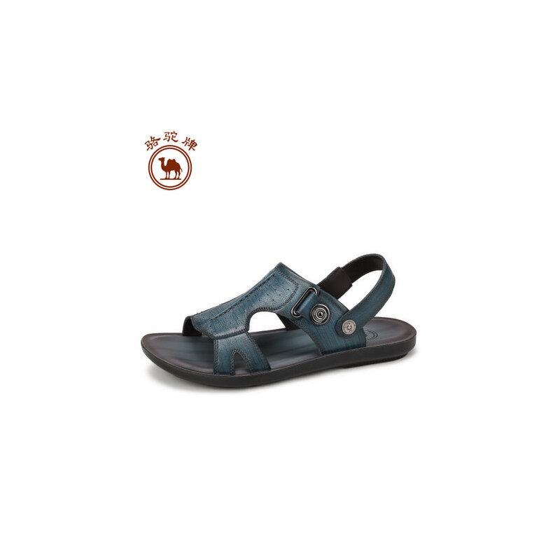骆驼牌男鞋 夏季新品 日常休闲男士凉鞋露趾透气沙滩凉鞋子