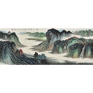 当代实力山水画家 王亚校《峡江万里》SS1871