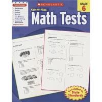 Scholastic Success with Math Tests Grade 6 学乐成功系列 必赢数学测试题 考试