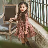 女童秋冬款女童长袖宝宝连衣裙儿童公主裙保暖裙子