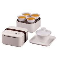 野外车载茶壶陶瓷茶具 便携式旅行快客茶杯套装