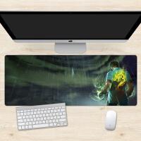 LOL龙的传人盲僧游戏男鼠标垫超大电脑桌垫定制加厚锁边 900x400mm 6mm
