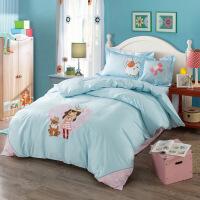 全棉活性印花加�C花�和�床上用品四件套 被套200*230 床��245*250
