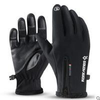 保暖加绒加厚防寒运动骑行户外健身跑步女防滑可触屏手套手套男冬