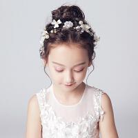 儿童头饰女童舞台演出配饰发箍影楼发带新款花童珍珠花环发饰