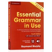 进口英文原版 剑桥英语语法书 初级 Essential Grammar in Use with Answers and