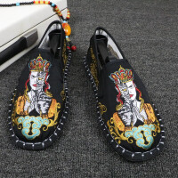 老北京布鞋男防臭牛筋底花布鞋西山手工刺绣鞋网红鞋精神小伙社会