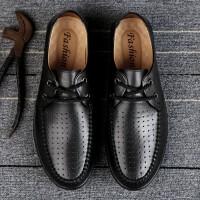 2019新款夏季男士凉鞋镂空皮鞋男鞋真皮休闲凉皮鞋透气男士洞洞鞋