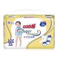 大王 GOO.N婴儿短裤式纸尿裤 尿不湿 光羽系列L32片